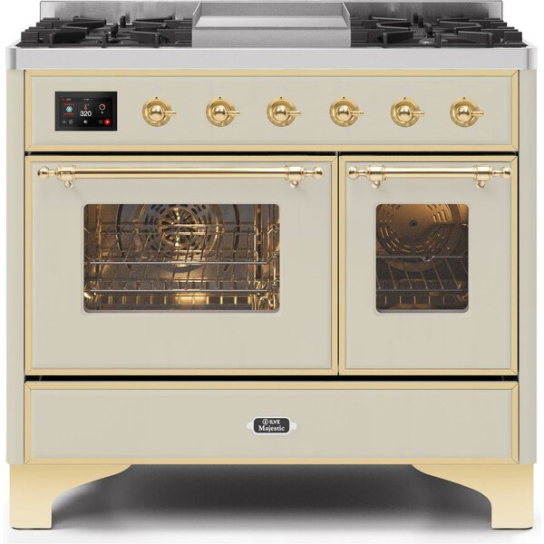 Majestic II 40 3.88 cu. ft. Freestanding Dual Fuel Range with Griddle
