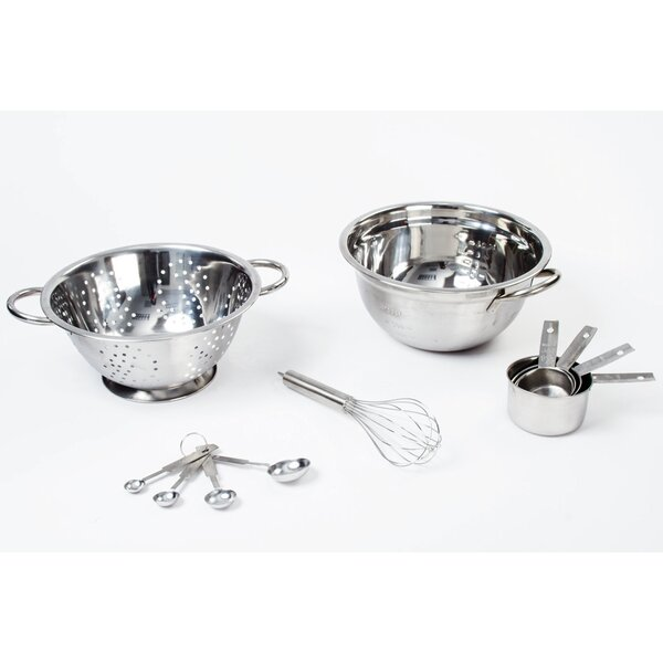 11 Piece Stainless Steel Mixing Bowl Set by Imperial Home