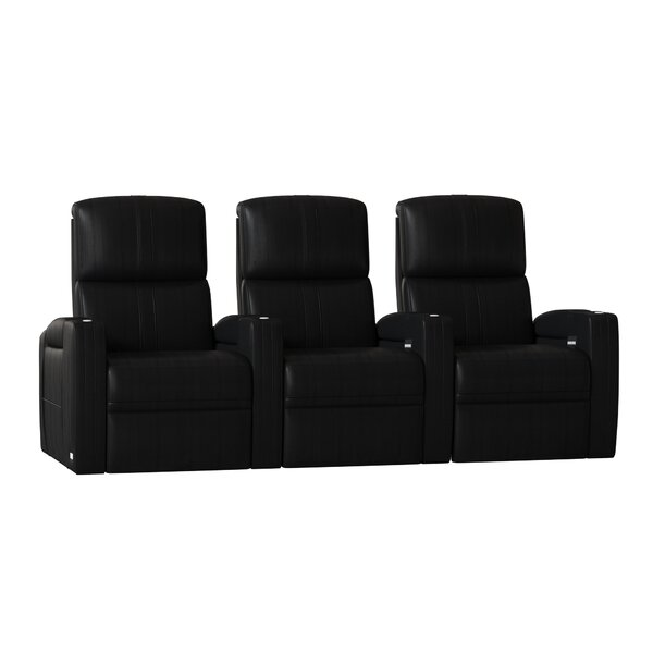 Flash HR Series Home Theater Recliner (Row Of 3) By Winston Porter