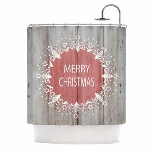 Buying 'Merry Christmas Pink' Typography Shower Curtain By East Urban Home