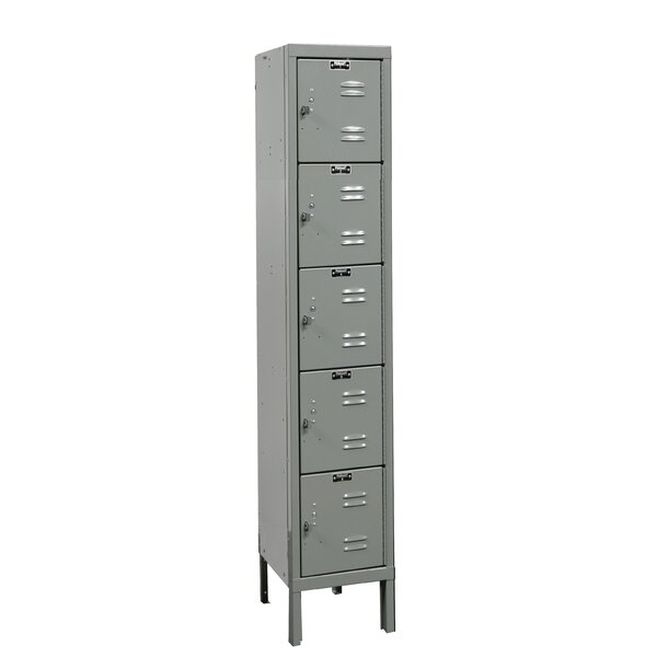 Premium 5 Tier 1 Wide Employee Locker by Hallowell