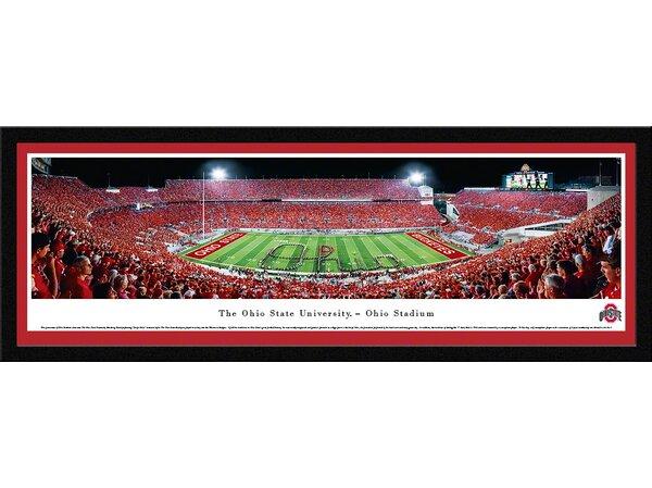 NCAA Ohio State University - Football - Script Framed Photographic Print by Blakeway Worldwide Panoramas, Inc