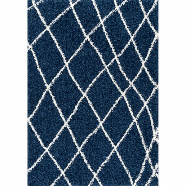 Hackett Blue Area Rug by Ebern Designs