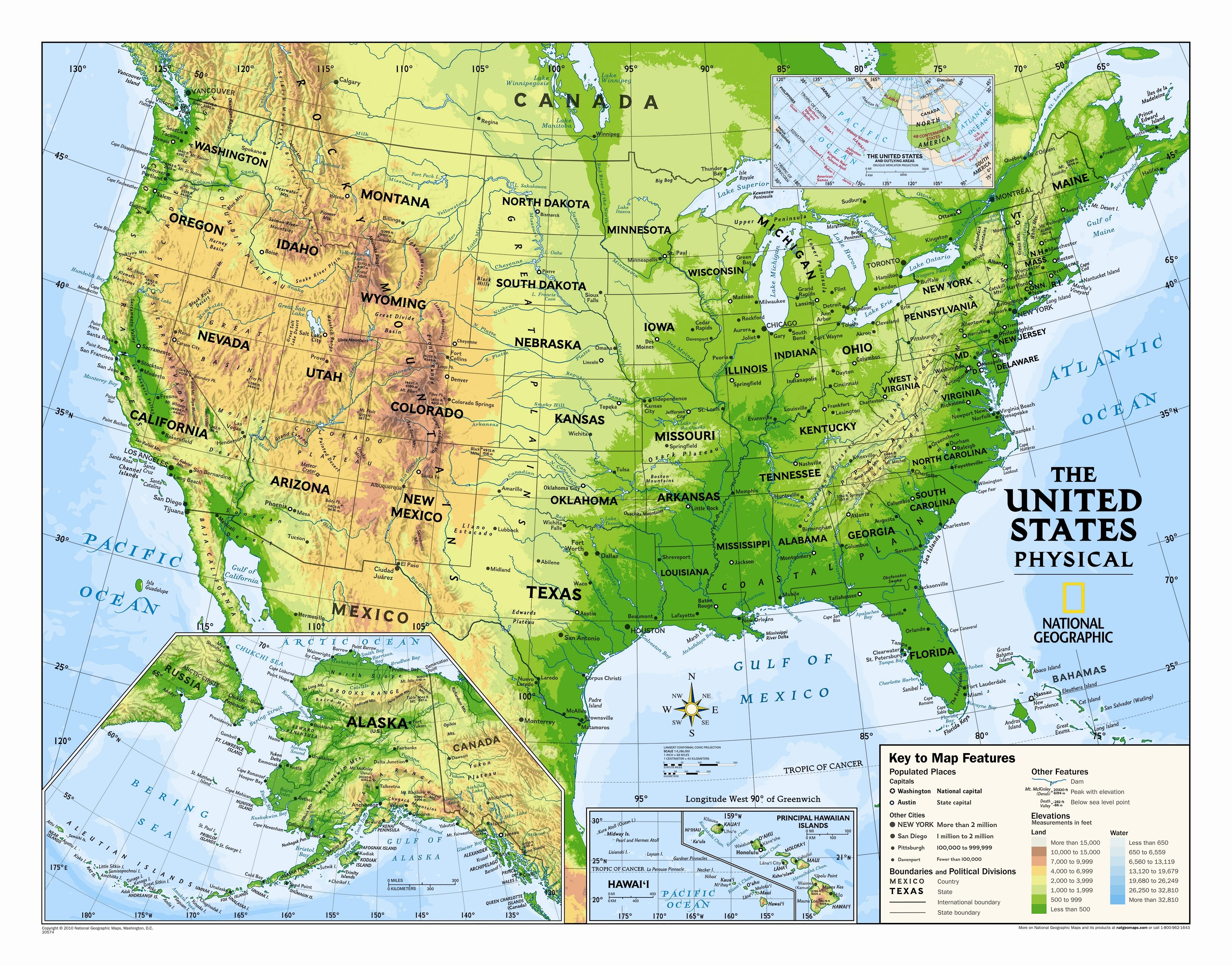 National Geographic Maps Kids Physical Usa Wall Map Graded 4 12 Wayfair