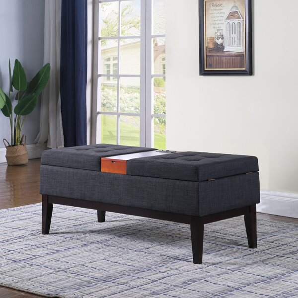 Dreier Upholstered Storage Bench by Ebern Designs