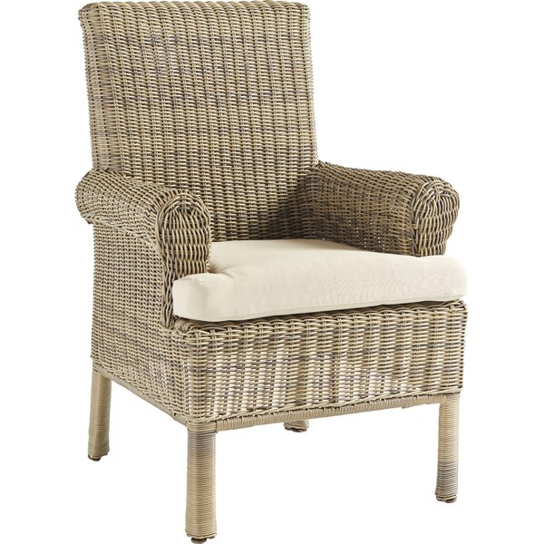 Enrico Patio Dining Chair with Cushion by Highland Dunes