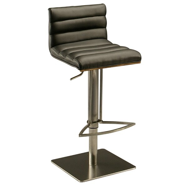 Dubai Adjustable Height Swivel Bar Stool by Impacterra
