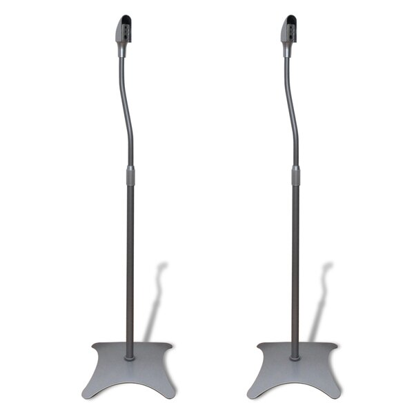 Adjustable Height Speaker Stand (Set Of 2) By East Urban Home