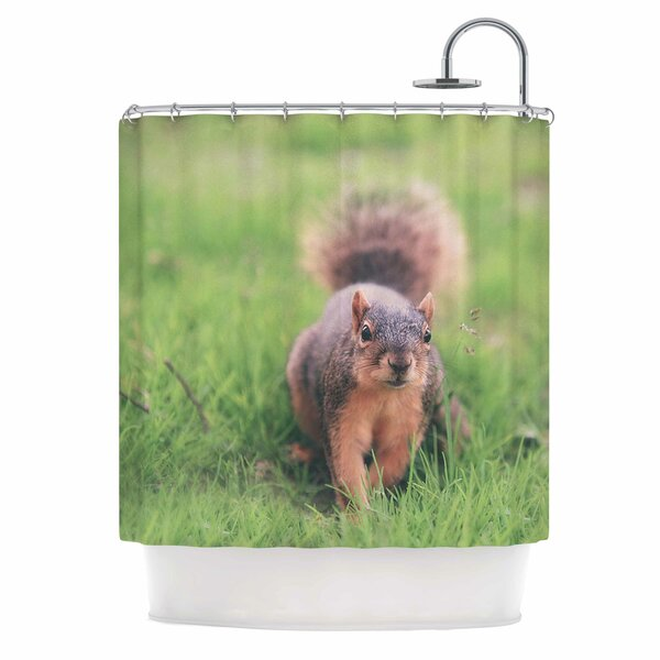 Angie Turner Squirrel Animal Shower Curtain by East Urban Home
