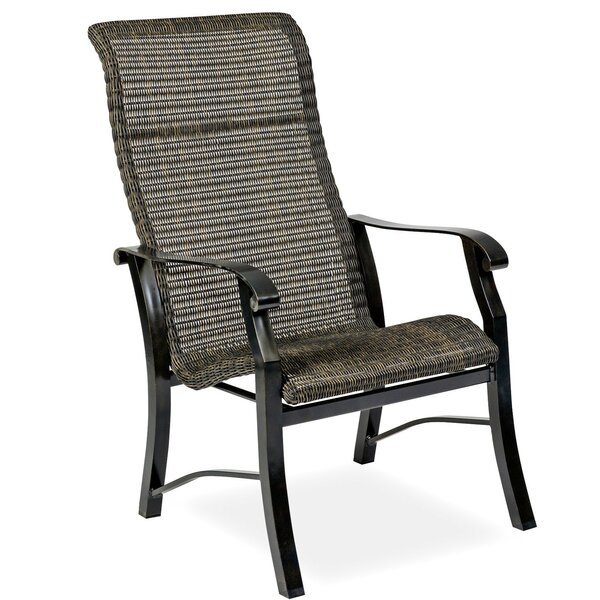 Cortland Woven High Back Patio Dining Chair (Set of 2) by Woodard