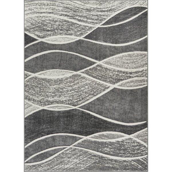 Giardina Abstract Swirls Gray Area Rug by Orren Ellis