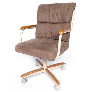 Genial Mid Back Dining Caster Upholstered Dining Chair