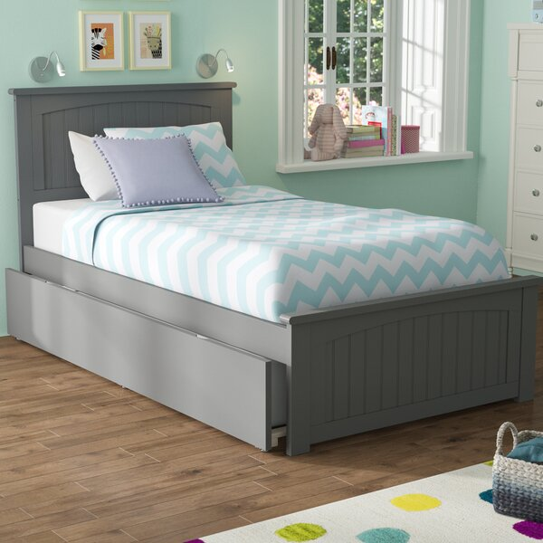 Mutchler Twin Platform Bed with Trundle by Beachcrest Home