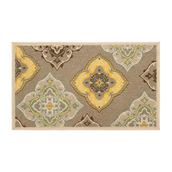 Jaya Allie Taupe/Yellow Indoor/Outdoor Area Rug by Laura Ashley Home