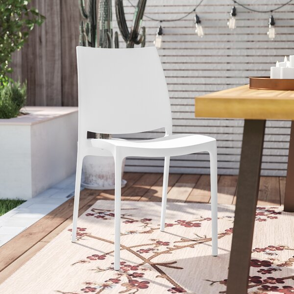 New Design Goguen Stacking Patio Dining Chair (Set Of 2) By Ebern Designs Herry Up