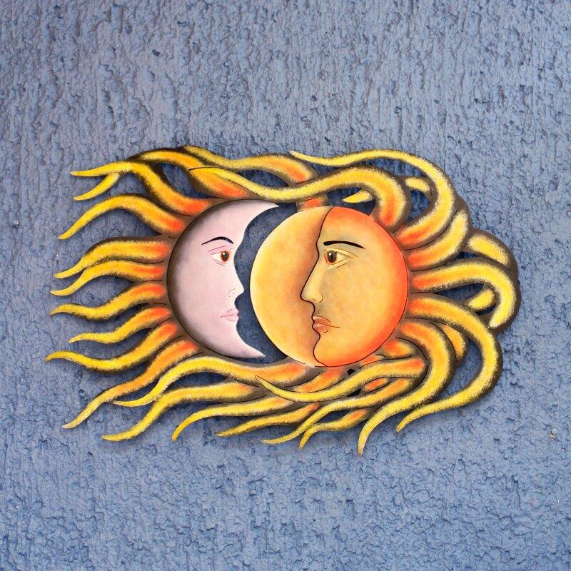Sun And Moon Eclipse Steel Art Wall Décor