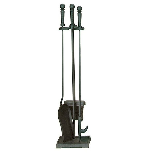4 Piece Black Fireplace Tool Set by Uniflame Corporation