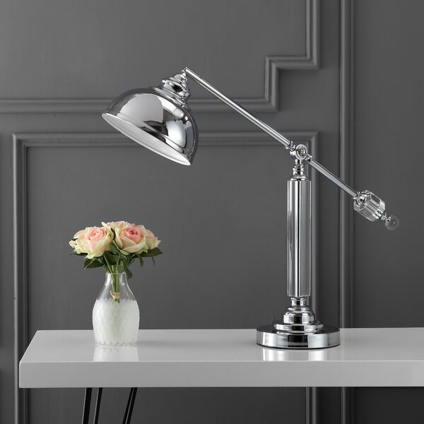 Fabian Metal and Crystal 22 Desk Lamp by Canora Grey