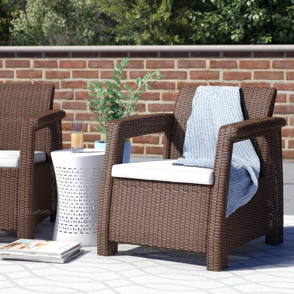 Berard All Weather Outdoor Patio Chair with Cushion by Mercury Row
