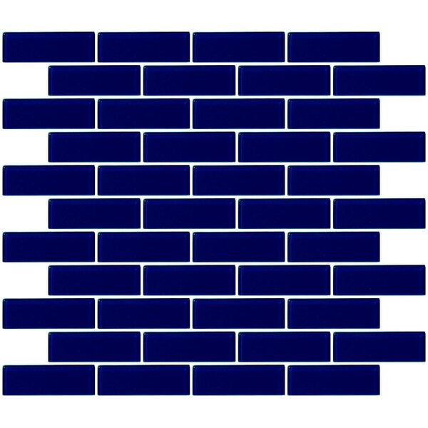 1 x 3 Glass Subway Tile in Navy Blue by Susan Jablon