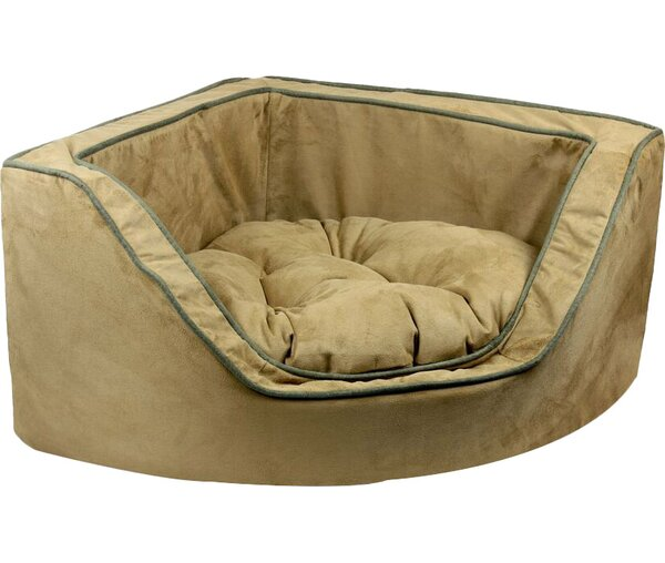 Luxury Corner Bolster Dog Bed by Snoozer Pet Products