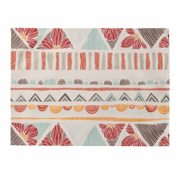 Ethnic Boho Stripes Placemat (Set of 4) by East Urban Home