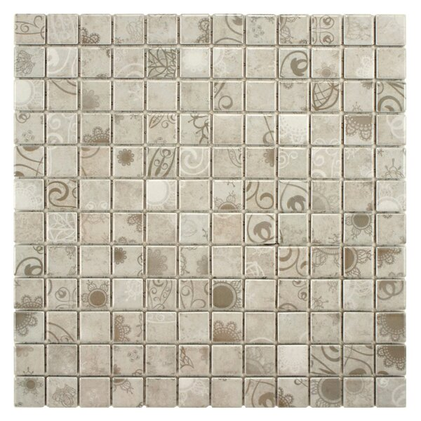 Filigree 0.9 x 0.9 Porcelain Mosaic Tile in Gray by EliteTile