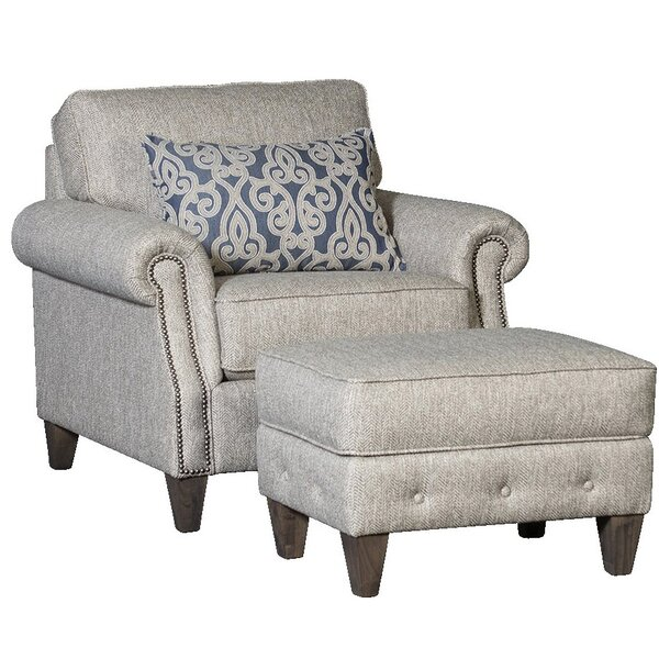 Citium Armchair and Ottoman by Rosecliff Heights Rosecliff Heights