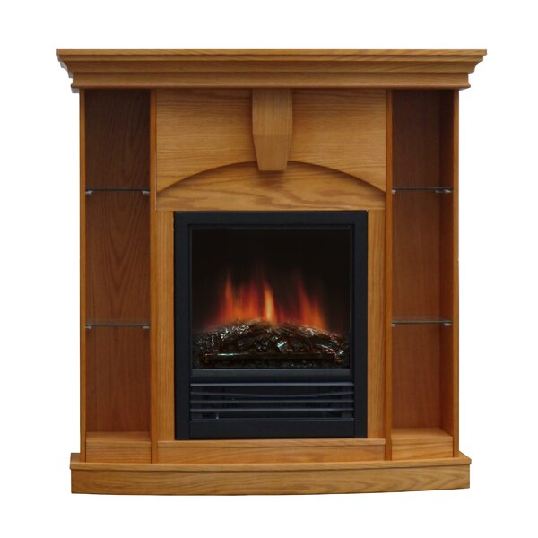 Belford Corner Curio Electric Fireplace by Charlton Home