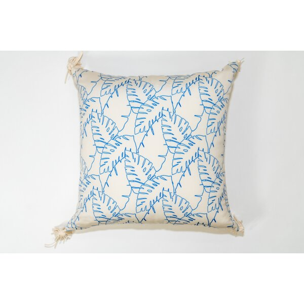 Elephant Leaves Square Outdoor Throw Pillow by Jiti