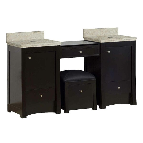Vangundy 61 Wall-Mounted Double Bathroom Vanity Set by Royal Purple Bath Kitchen
