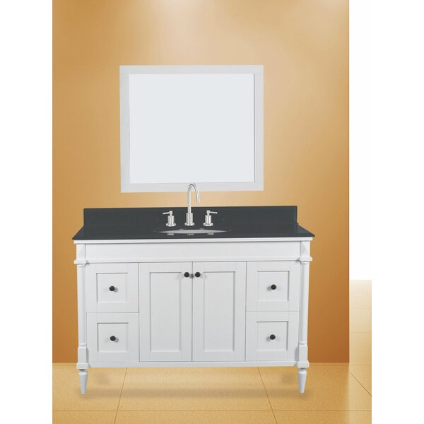 Barcelona 48 Single Bathroom Vanity with Mirror by NGY Stone & Cabinet
