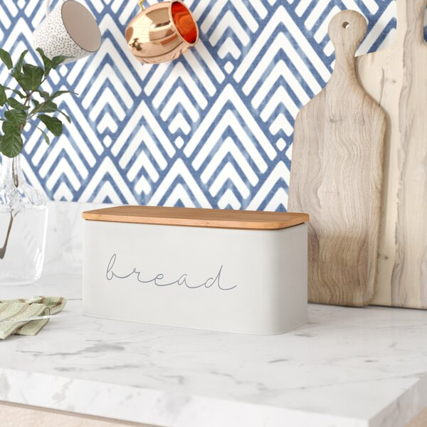 Brad Metal Bread Box by Mint Pantry