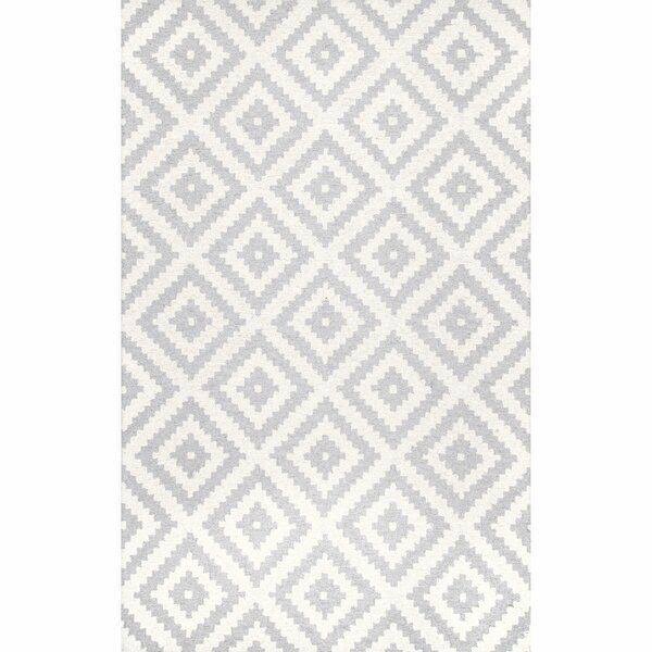Sizemore Hand-Tufted Wool Light Gray Area Rug by Union Rustic