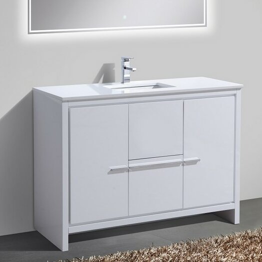 modern bathroom vanities. Bosley 48  Single Sink Modern Bathroom Vanity Contemporary Vanities You ll Love Wayfair