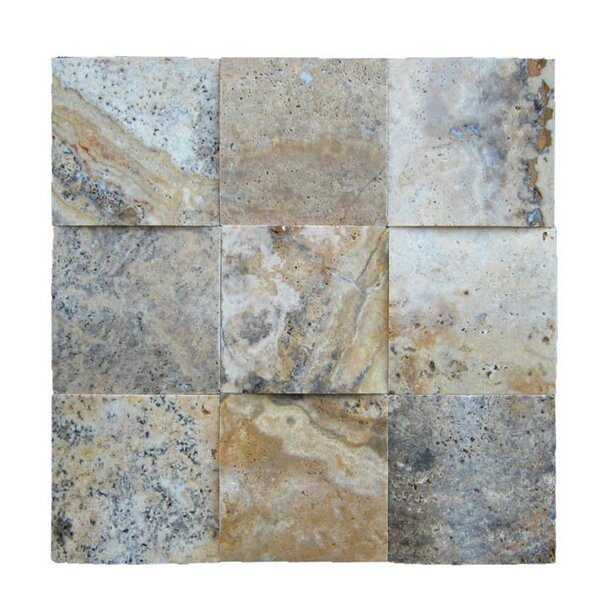 3D Honed 4 x 4 Natural Stone Mosaic Tile in Fantastico by QDI Surfaces