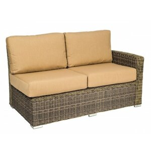 Bay Shore Right Arm Loveseat Sectional Piece with Cushions Woodard