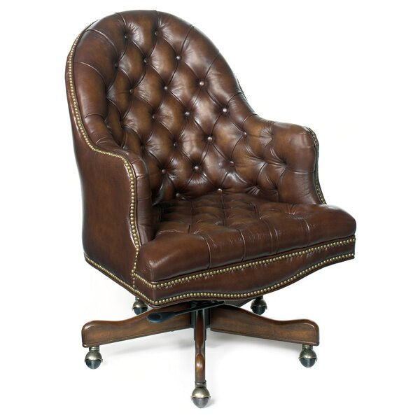 Derby Prairie Leather Desk Chair by Hooker Furniture