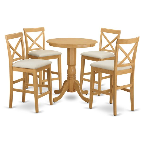 Smithson 5 Piece Counter Height Pub Table Set by Charlton Home Charlton Home