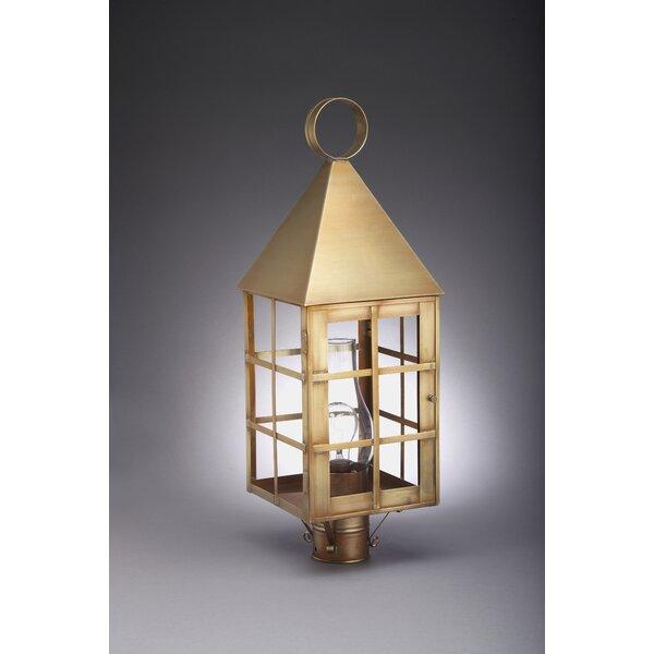 York Chimney Pyramid Top H-Bars 1-Light Lantern Head by Northeast Lantern