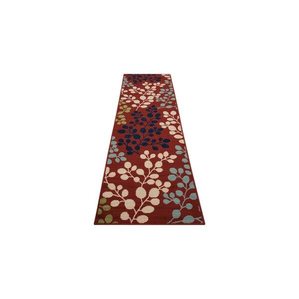 Brockenhurst Floral Red Indoor / Outdoor Area Rug