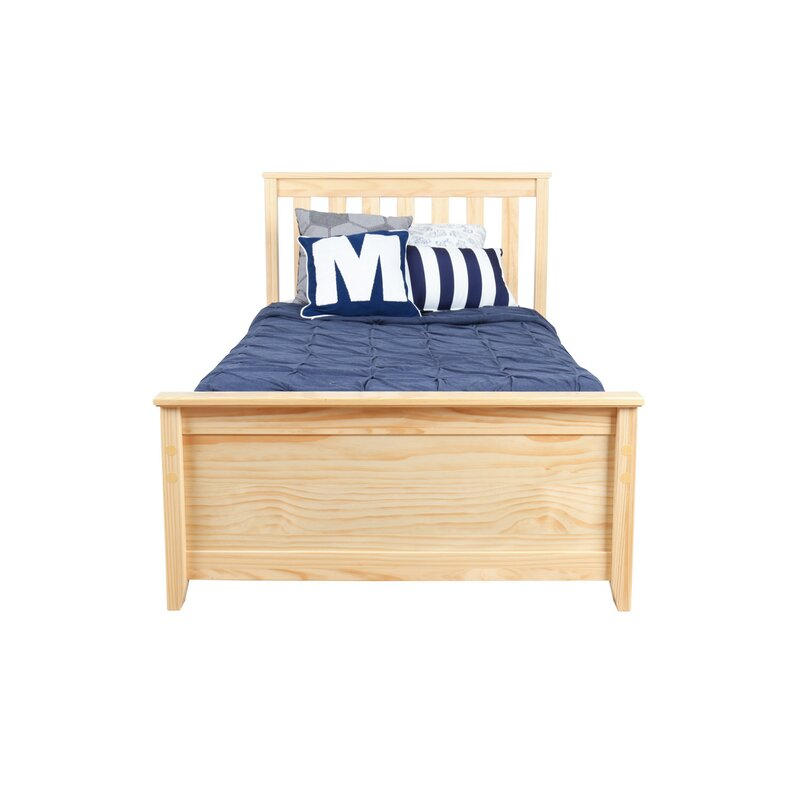 Max Lily Solid Wood Twin Platform Bed With Trundle Frame Reviews