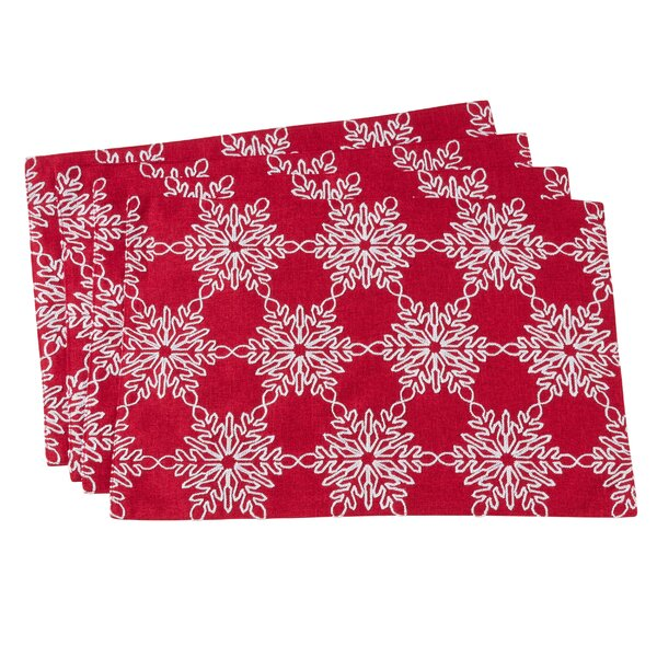 Bateman Snowflake 19 Placemat (Set of 4) by The Holiday Aisle