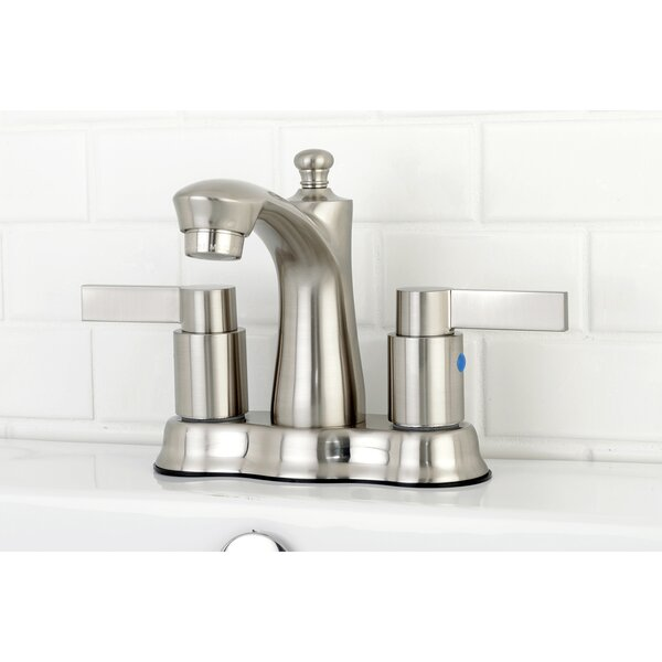 NuvoFusion Centerset Bathroom Faucet with Drain Assembly by Kingston Brass Kingston Brass