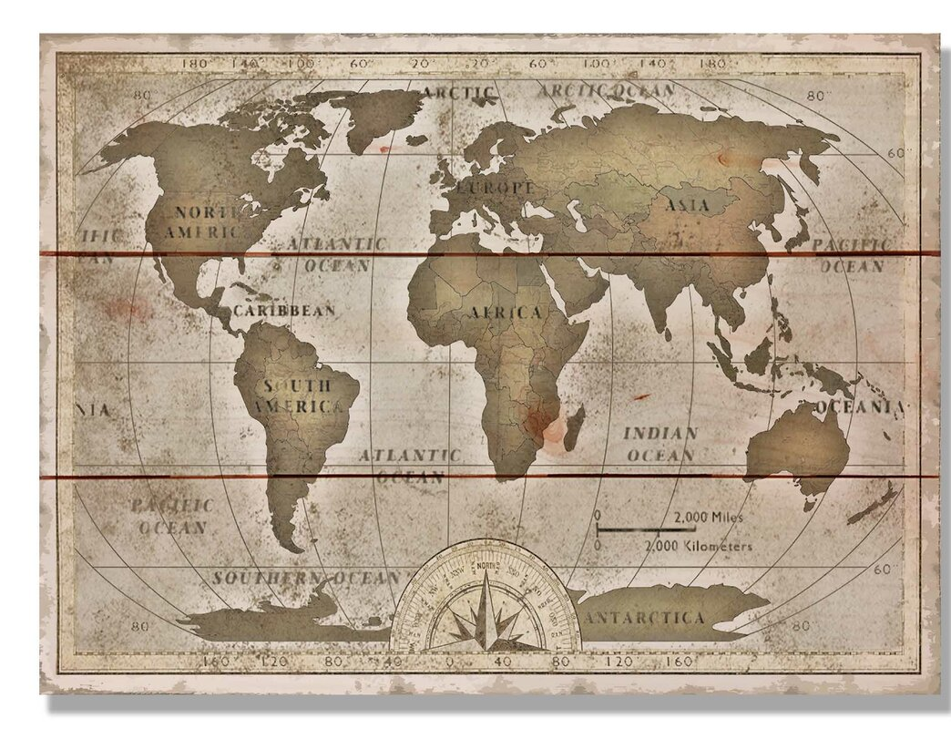 Daydream hq old world map graphic art on wood reviews wayfair old world map graphic art on wood gumiabroncs Image collections