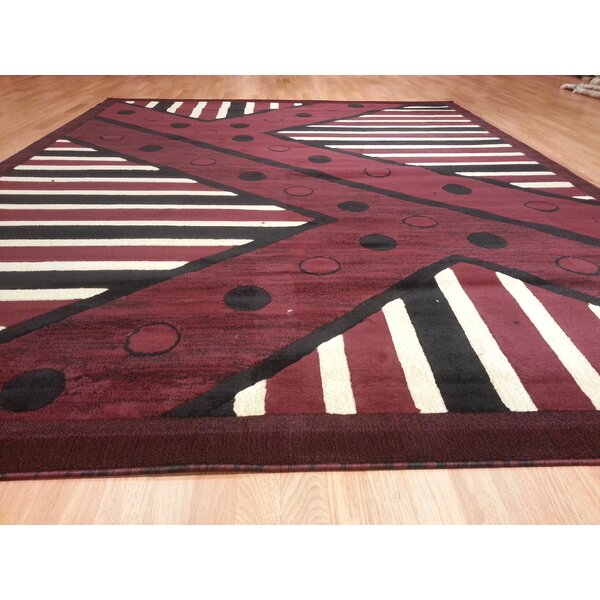 Hand-Carved Burgundy Area Rug by Rug Tycoon