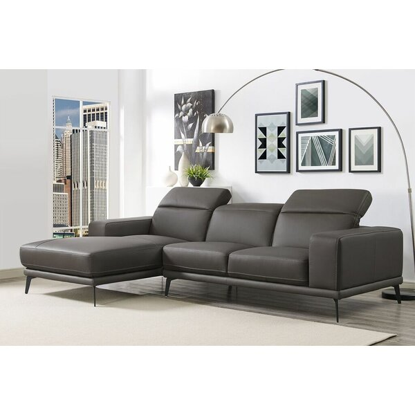 Herrick Leather Sectional by Wade Logan