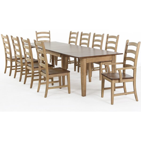 Huerfano Valley 11 Piece Extendable Solid Wood Dining Set by Loon Peak