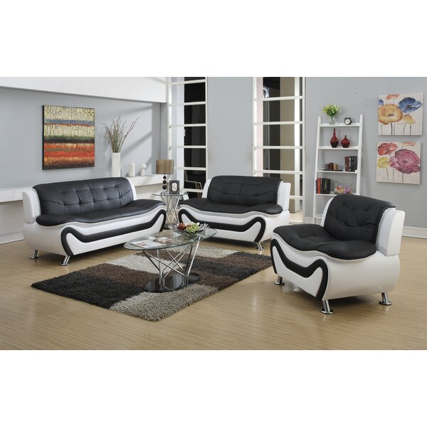 Herron 3 Piece Living Room Set by Orren Ellis