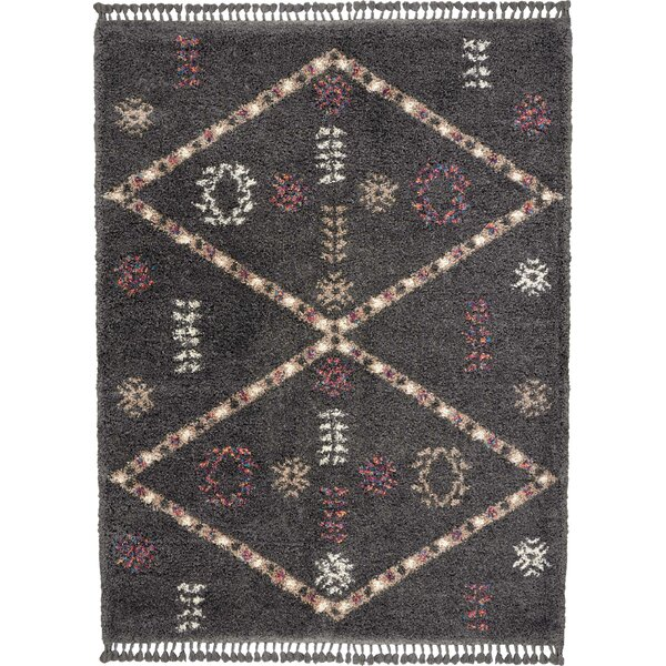 Chamois Bohemian Tribal Gray/Cream Area Rug by Bungalow Rose